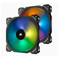 CO-9050078-WW-Corsair ML140 PRO RGB 2 Fan Pack with Lighting Node Pro
