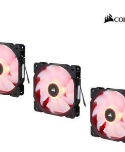 CO-9050083-WW-Corsair Air Flow 120mm Fan Low Noise Edition / Red LED 3 PIN - Hydraulic Bearing