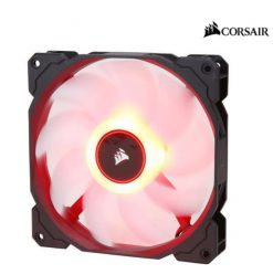 CO-9050086-WW-Corsair Air Flow 140mm Fan Low Noise Edition / Red LED 3 PIN - Hydraulic Bearing