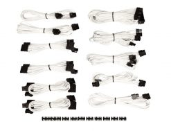 CP-8920153-For Corsair PSU - WHITE  Professional Individually sleeved DC Cable Pro Kit