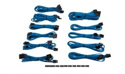 CP-8920154-For Corsair PSU - BLUE  Professional Individually sleeved DC Cable Pro Kit