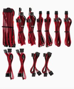 CP-8920226-For Corsair PSU - RED/BLACK Premium Individually Sleeved DC Cable Pro Kit