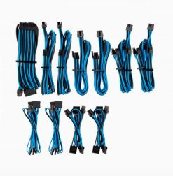 CP-8920228-For Corsair PSU - BLUE/BLACK Premium Individually Sleeved DC Cable Pro Kit