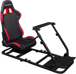 PS/COMBO/200-DXRacer Racing Simulator with Seat Combo (3 Parts) - PS/F03/NR + PS/1000/N + S/2000/N/PU Leather Racing Simulator/Gaming Steering Wheel Bracket