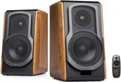 S1000DB-Edifier S1000DB - 2.0 Lifestyle Bookshelf Bluetooth Studio Speakers Browm
