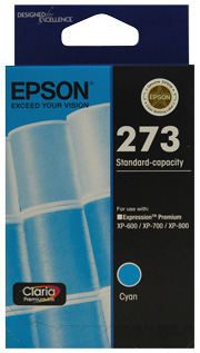 C13T273292-Epson 273 Std Cap Photo Cyan For XP-600