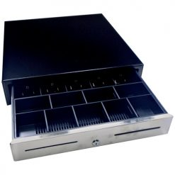 GC54BL-GC54 Cash Drawer Black Lockable Cash Drawer 24 Volt 5 Note 8 Coin