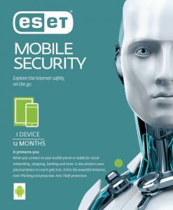 ES-MSEC1D1Y.-ESET Mobile Security For Android 1 Device 1 Year Retail Download Card