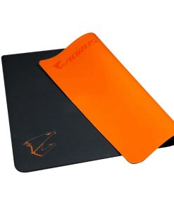 AMP500-Gigabyte AORUS AMP500 Hybrid Gaming Mouse Pad Fabric Black Surface Organse Silicon Base Heat Molding Edge Spill-Resistant Washable 430x370x1.8mm
