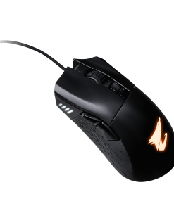 AORUS-M3-Gigabyte AORUS M3 Optical Gaming Mouse USB Wired 6400 dpi 12500 fps 50g 3D Scroll 20 million click Matte Black RGB Fusion On-the-fly DPI Adjustment