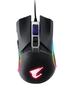 AORUS-M5-Gigabyte AORUS M5 Optical Gaming Mouse USB Wired 16000dpi 125fps 118g 3D Scroll 50 million clicks Matte Black RGB Fusion On-the-fly DPI Adjustment