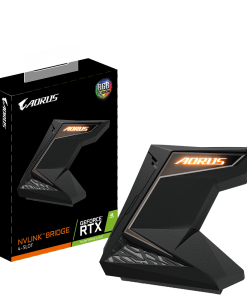 GC-A2WAYNVLINKL-RGB-Gigabyte AORUS NVLink Bridge 4-Slot 2 way SLI on nVidia Geforce RTX 2080/2080Ti 4K+ resolution RGB