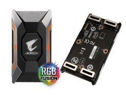 GC-A2WAYSLIL RGB-Gigabyte GC-A2WAYSLIL RGB AORUS SLI HB bridge RGB  4K+ 8cm 2 slot spacing for nVidia GTX 10 series graphic cards Dual Link SLI HB ~GC-A2WAYSLI RGB