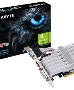 GV-N730SL-2GL-Gigabyte nVidia GeForce GT 730 2GB Video Card DDR3 4K HDMI DVI VGA Low Profile Silent Passive Cooling 902 MHz ~GV-N730-2GI LS