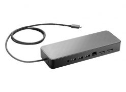 3DV65AA-HP USB Type-C Universal Dock Non-Flash w/4.5mm adapter 1xUSB3.0 1xType-C 2xUSB2.0 2xDP power not supported on mWKS or USB-data only ports (LS)
