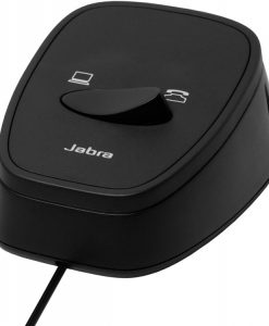 180-09-Jabra LINK 180 Switch seamlessly between desk and softphoneusing the same headset. Plug & Play solution for corded Jabra Headsets with PC-based audio