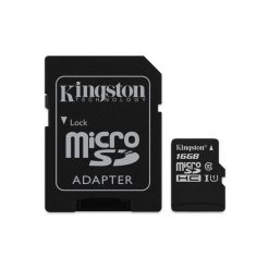 SDCS/16GB-Kingston 16GB MicroSD SDHC SDXC Class10 UHS-I Memory Card 80MB/s Read 10MB/s Write with standard SD adaptor ~FMK-SDC10G2-16 SDC10G2/16GBFR