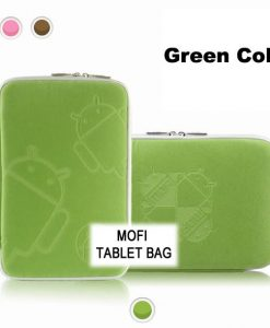 """NAL-T10MOFIGRE-Tablet 10"""" MofiZip Case Green Andriod logo. Suit any 10"""" tab"""