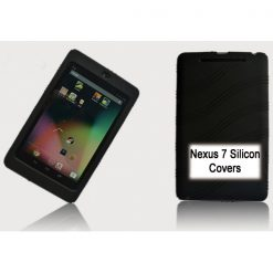 "NAL-T7SIL-BLACK-Tablet 7"" Silicon Back Black Back Case for Nexus 7 / 7"" Tab"