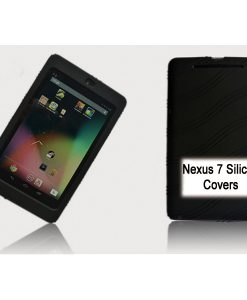 """NAL-T7SIL-BLACK-Tablet 7"""" Silicon Back Black Back Case for Nexus 7 / 7"""" Tab"""
