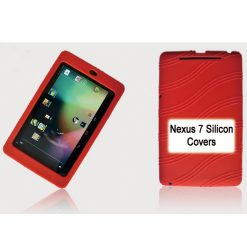 "NAL-T7SIL-RED-Tablet 7"" Silicon Back Red Back Case for Nexus 7 / 7"" Tab"