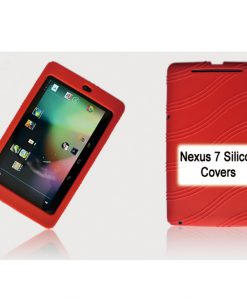 """NAL-T7SIL-RED-Tablet 7"""" Silicon Back Red Back Case for Nexus 7 / 7"""" Tab"""