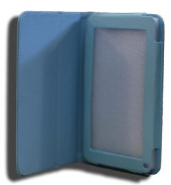 NALT7-CBLUE-LeaderTab7 Folio Case Blue Faux Leather. Camera hole rear