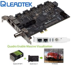 812674021171-Leadtek nVidia Quadro SYNC II Card to connects up to 32 4K Synchronized Displays for GP100 P4000 P5000 P6000 Project Overlay & Stereoscopic Display