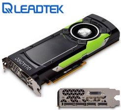 GP100-Leadtek nVidia Quadro GP100 PCIe Workstation Card 16GB HBM2 ECC 4xDP1.4 DVI 4x5120x2880@60Hz 4096-Bit 717GB/s 3584 Cuda Core Dual Slot Full Height