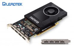 P2000-Leadtek nVidia Quadro P2000 PCIe Workstation Card 5GB DDR5 4xDP 1.4 4x5120x2880@60Hz 160-Bit 140GB/s 1024 Cuda Core Single Slot ~M2000