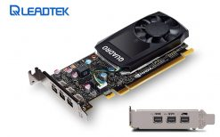 P400-Leadtek nVidia Quadro P400 PCIe Professional Graphic Card 2GB DDR5 3xmDP1.4 3x4096x2160@60Hz 64-Bit 32GB/s 256 Cuda Core Single Slot Low Profile ~K420