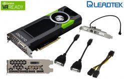P5000-Leadtek nVidia Quadro P5000 PCIe Workstation Card 16GB DDR5 4xDP1.4 DVI 4x5120x2880@60Hz 256-Bit 288GB/s 2560 Cuda Core Dual Slot Full Height ~M5000