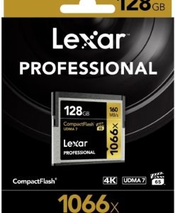 LCF128CRBAP1066-Lexar Professional 1066x 128GB CF Compact Flash Card - Upto 160MB/s
