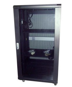 NCB22-66-BDA-LinkBasic 22RU 600mm Depth Server Rack Smoke Glass Door with 2x240v Fans and 8-Port 10A PDU