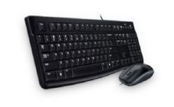 920-002586-Logitech MK120 Keyboard & Mouse Combo Quiet typing and Spill resistant High-definitiion optpical tracking Thin profile 3yr wty