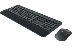 920-008696-Logitech MK545 Wireless Desktop Keyboard Mouse Combo 3 Yrs battery life comfortable palm rest & adjustable tilt legs Laser-grade ~KBLT-MK520R