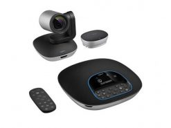 960-001054-Logitech CC3500e Conference Cam Group HD Video Conferencing Webcam for Med-Large Meeting Rooms 1080p Pan Tilt Zoom Camera & Speakerphone BT NFC