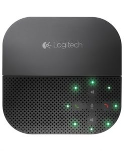 980-000744-Logitech P710e Mobile Speakerphone Cordless Portable Conference Hands Free USB Bluetooth NFC for PC Smartphone Tablet Mobile Devices 15 Hrs Talk Time