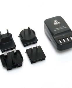 CHGR-4U-BLK-mbeat® Gorilla Power 4 Port 6.8A 34W USB World Travel Charger