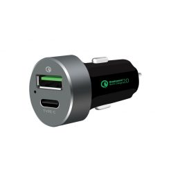 MB-CHGR-QBC-mbeat® QuickBoost USB 2.0 & USB Type-C Dual Port Car Charger -  Certified Qualcomm Quick Charge 2.0 technology /Fast Charging/ Samsung Galaxy Note