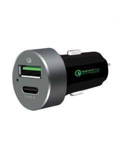 MB-CHGR-QBC-mbeat® QuickBoost C Dual Port Qualcomm Certified Quick Charge 2.0 and USB Type-C Car Charger