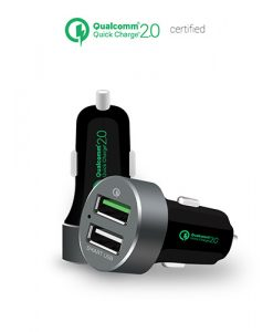 MB-CHGR-QBS-mbeat® QuickBoost S Dual Port Qualcomm Certified Quick Charge 2.0 and Smart USB Car Charger