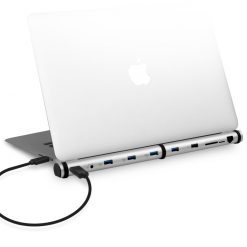 MB-MSDOCK-S-mbeat®  M-Sleek Docking Station For Notebook and Macbook in Silver Aluminium Housing