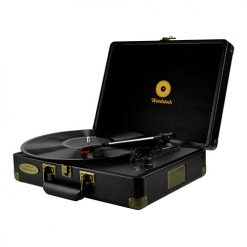 MB-TR89BLK-mbeat® Woodstock Retro Turntable Player – Black