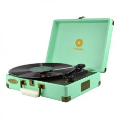 MB-TR89TBL-mbeat® Woodstock Retro Turntable Player – Tiffany Blue