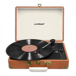 MB-USBTR128-mbeat® Woodstock Retro Turntable Recorder with Bluetooth & USB Direct Recording