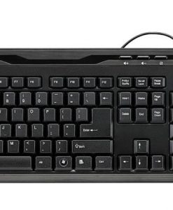 NX1710-RAPOO NX1710 Wired Keyboard Mouse Optical Combo Black - 1000dpi Spill-Resistant Design