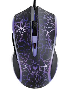 V20S Lighting Black-RAPOO V20S LED Optical Gaming Mouse Lighting Black - Upto3000dpi 16m Colour 5 Programmable Buttons