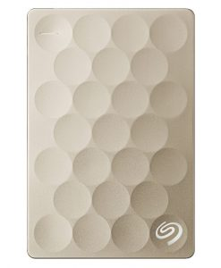 "STEH2000301-Seagate Backup Plus 2TB 2.5"" Ultra Slim 9.6mm Portable Drive. Gold. STEH2000301"