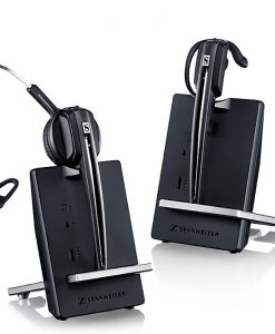 D 10 USB-Sennheiser DECT wireless headset and base for soft phone/PC use. Up to 12 hours talk time